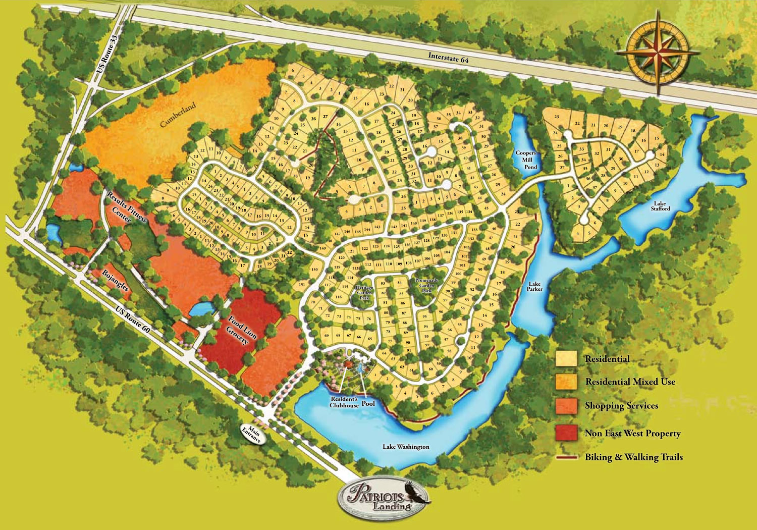 Community Site Plan Planned Community In Central Virginia